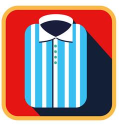 fashionable striped man shirt flat icon vector image