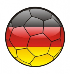 flag of Germany on soccer ball vector image