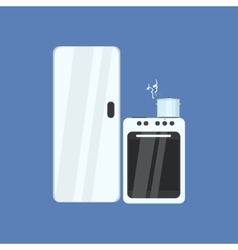Fridge And Stove vector image