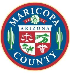 Maricopa county seal vector image vector image