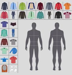 mens clothing set vector image
