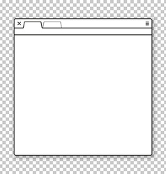 Opened browser window template Past your content vector image vector image