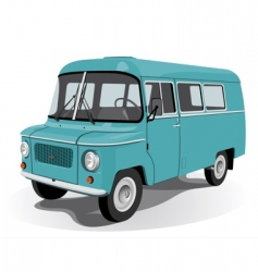 retro mini bus vector image vector image