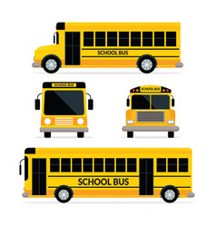 school bus front and side view vector image vector image