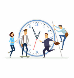 time management in a company - modern cartoon vector image