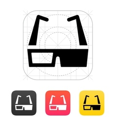 3D cinema glasses icon vector image