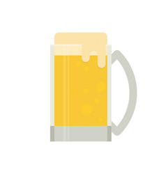 A mug of beer a light beer flat design vector