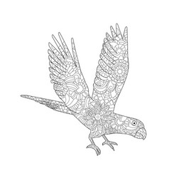 a parrot ara flying vector image