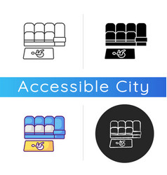 Accessible seating icon vector