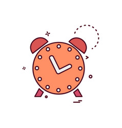alarm icon design vector image