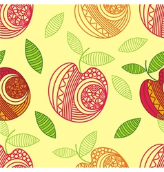 Apple seamless pattern background vector image