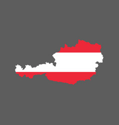 Austria outline and flag vector
