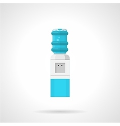 Automatic water cooler flat icon vector
