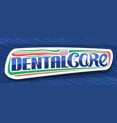 Banner for dental care vector