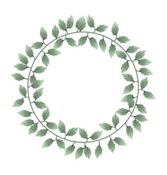 beautiful watercolor of wreaths of leaves vector image