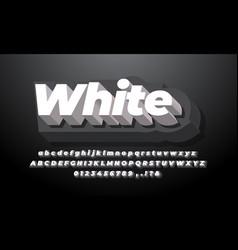 Black and white 3d modern clean alphabet vector