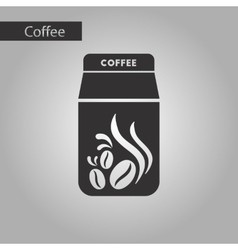 black and white style coffee package vector image