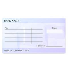 Blank bank cheque vector