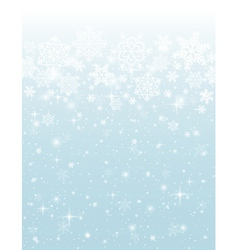 Blue background with snowflakes vector