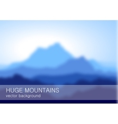 Blurred landscape with high blue mountains vector