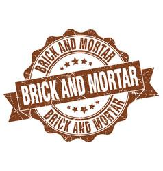brick and mortar stamp sign seal vector image