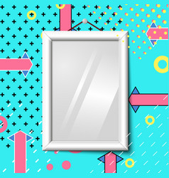 bright realistic poster frame abstract eps vector image