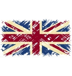 British grunge flag vector image