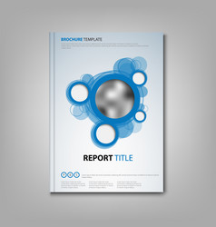 brochures book or flyer with abstract blue circles vector image