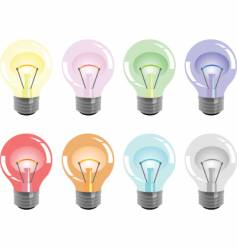 Bulbs colors vector