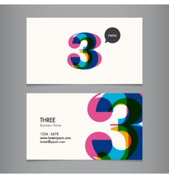 business card number 3 vector image