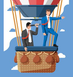 Business people on air balloon vector