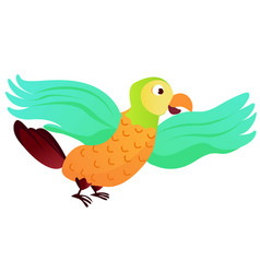 Cartoon animal parrot - vector