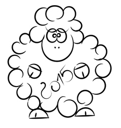 cartoon sheep on a white background vector image