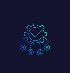 Cash flow funds optimization linear icon vector