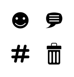Chat simple related icons vector