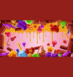 Chocolate factory banner horizontal cartoon style vector