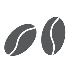 coffee beans glyph icon coffee and cafe vector image