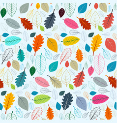 colorful leaves seamless pattern suitable vector image