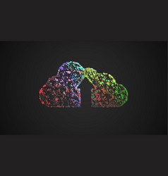 colorful upload dots cloud vector image