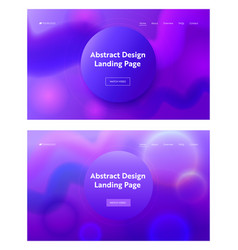 Consisting geometrical purple shape landing page vector