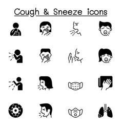 Cough sneeze icons set graphic design vector