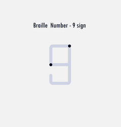 creative english version of braille number design vector image