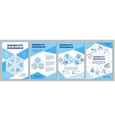 Disability insurance brochure template vector