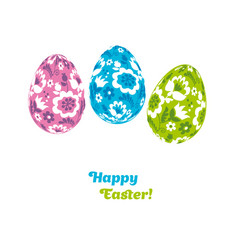 easter egg decoration floral folk-style decor on vector image