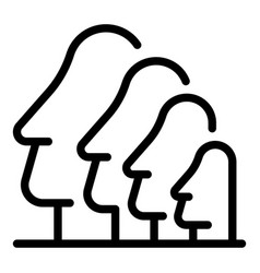 Easter island sculpture icon outline style vector