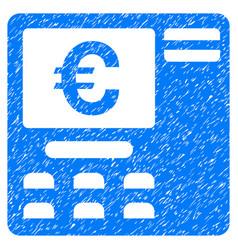 Euro atm grunge icon vector
