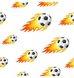 Fire football background vector image
