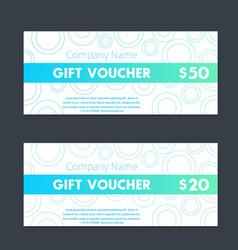 gift voucher certificate templates vector image