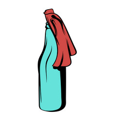 Glass bottle filled with gasoline icon cartoon vector