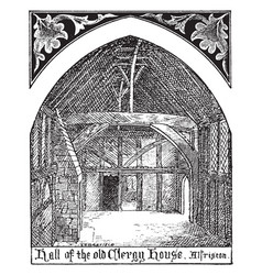 Gothic architecture alfriston clergy house hall vector
